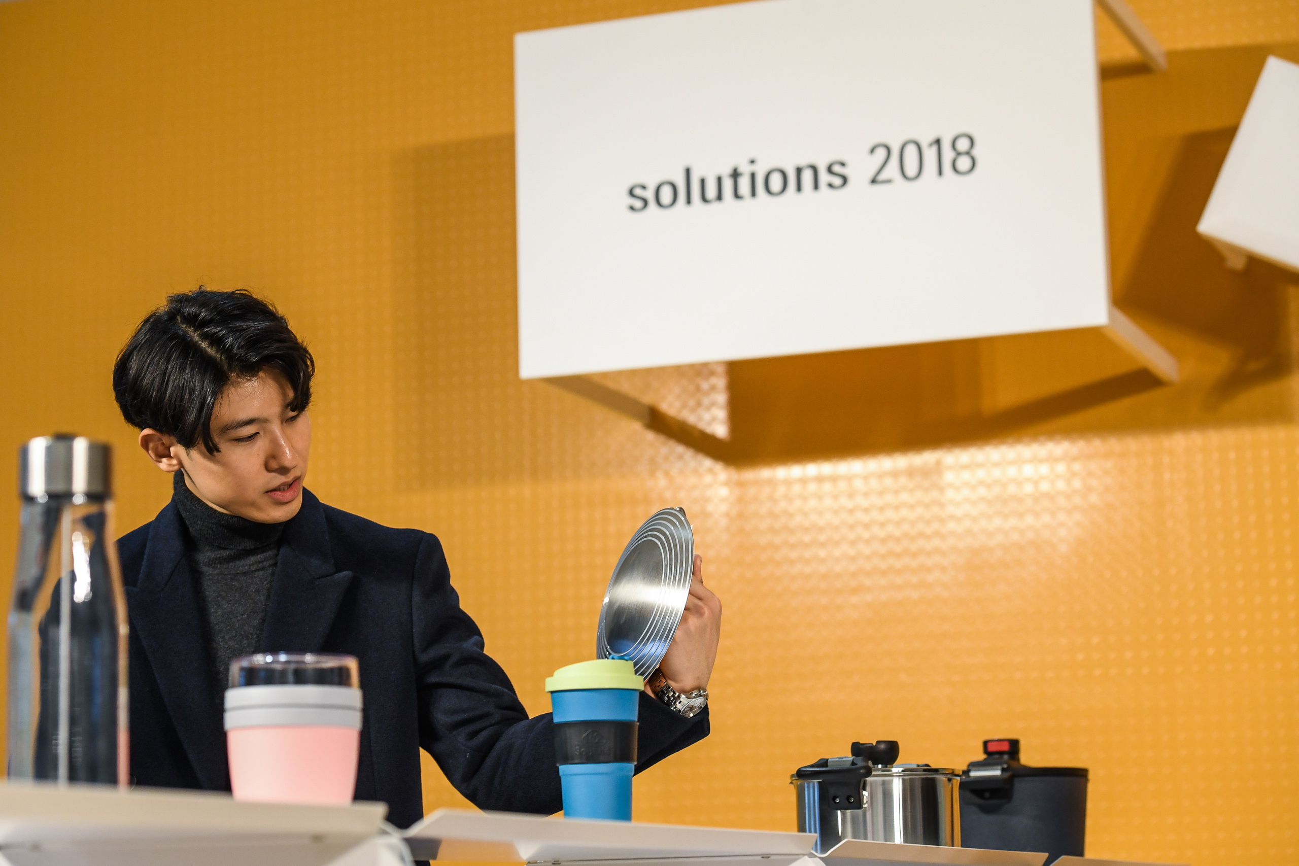 "Visitors in the special presentation ""Solutions"" at Ambiente 2018"