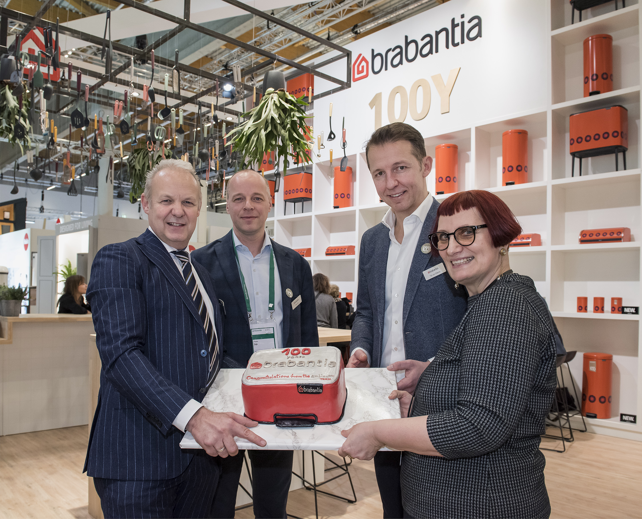 Brabantia celebrating its centenary.