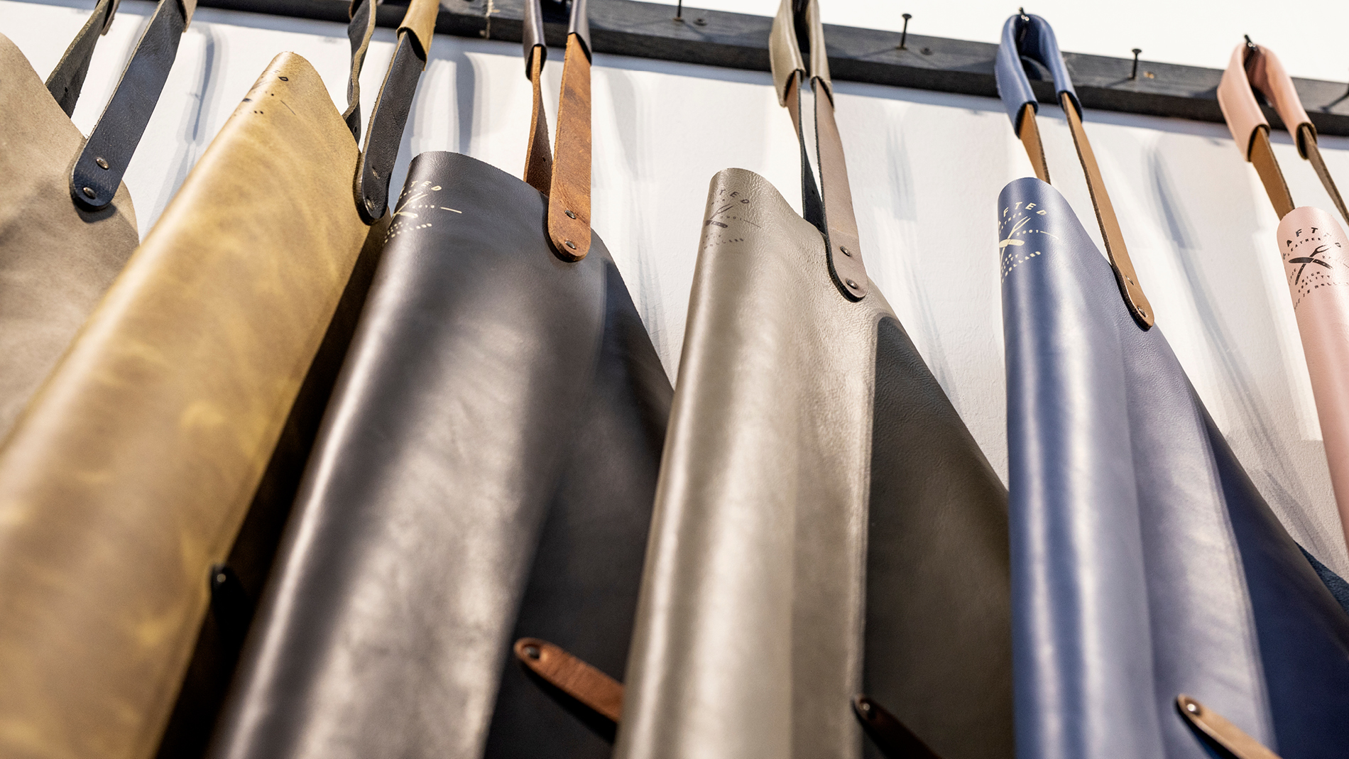 Leather aprons at Ambiente