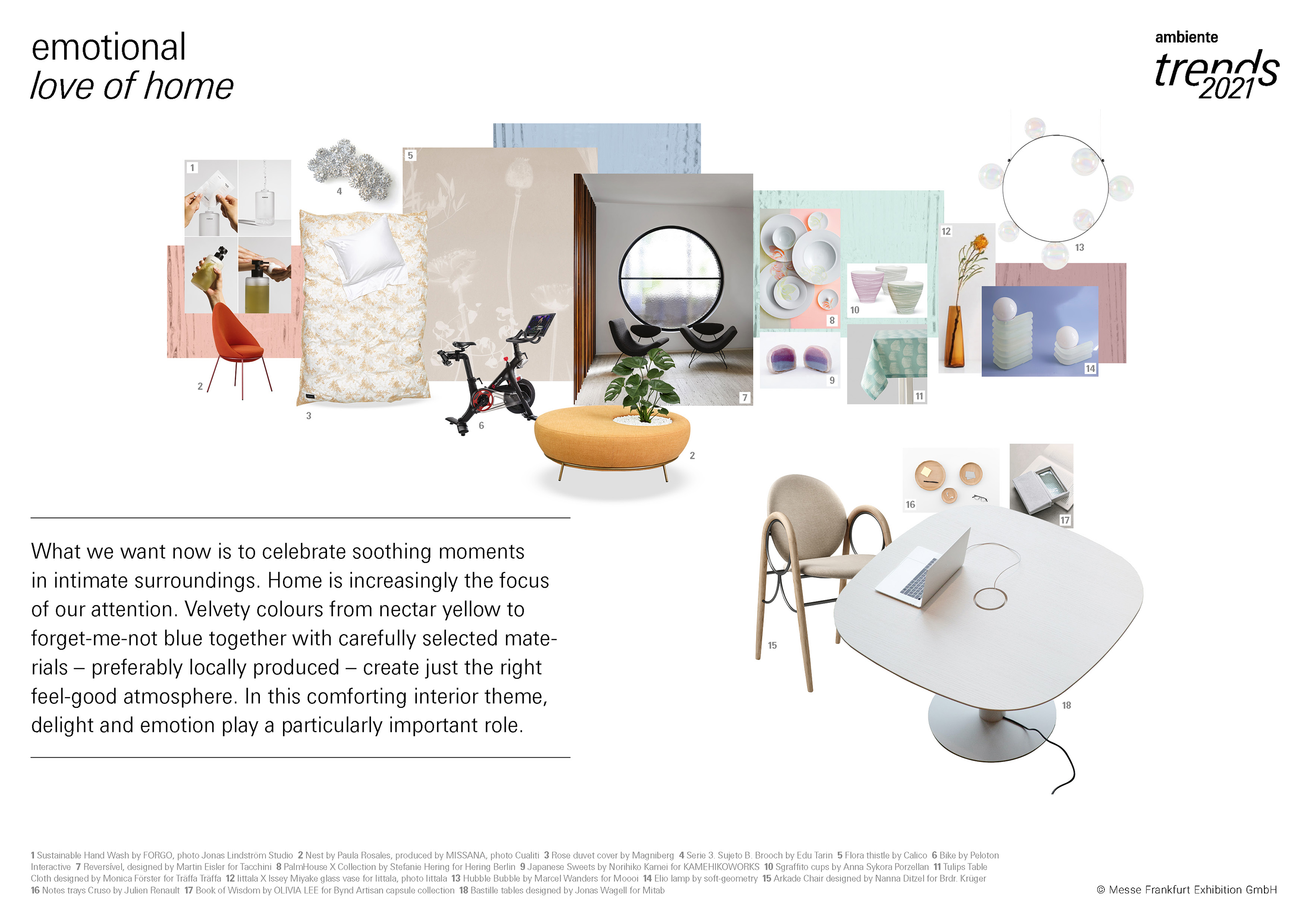 Ambiente Trends 2021 / emotional. love of home