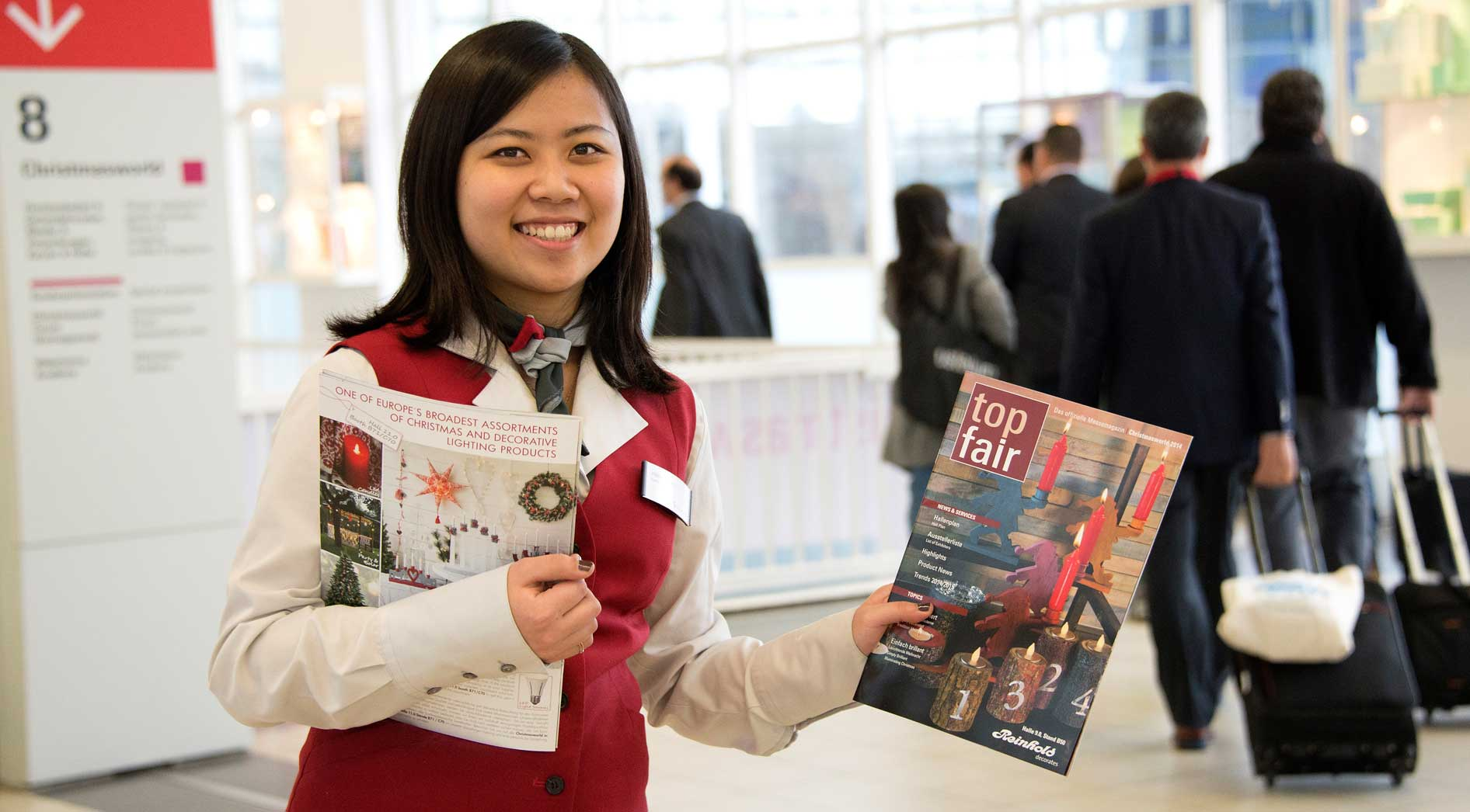 Trade fair magazines and newspapers